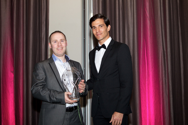 Adrian Toher from EJ Menswear, winner of Groomswear Provider of the Year
