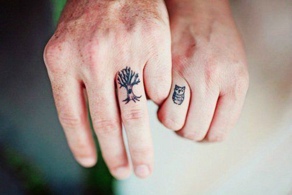 His And Hers Tattoo Designs A small heart or an infinity