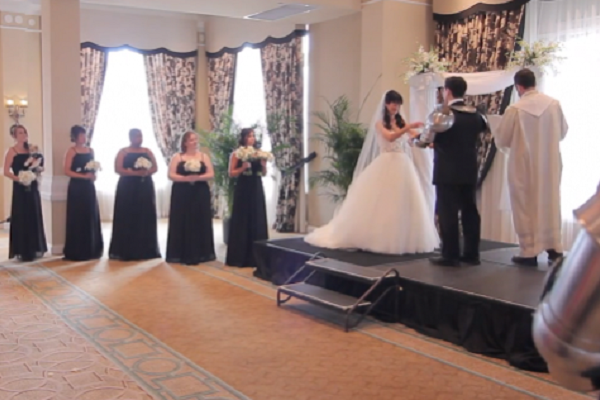 Video: best wedding crash ever