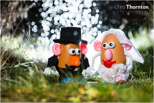 I now pronounce you Mr and Mrs Potato Head!