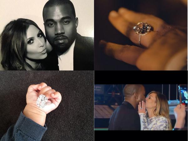 best engaged celebrities kim kardashian