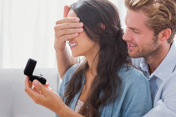 Men are spending less on engagement rings and proposals
