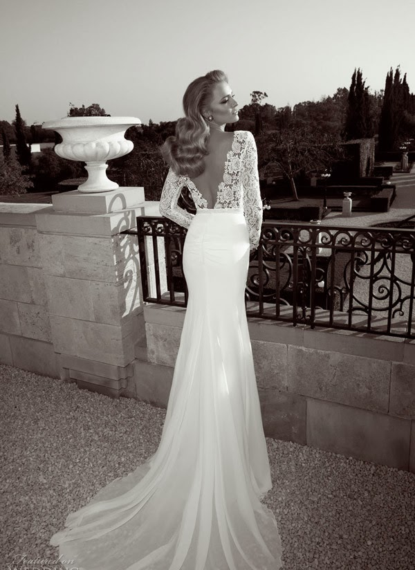 Tight lace backless wedding dress images for Deep back wedding dress