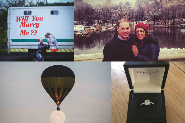 """How did he propose?"" Your engagement stories"