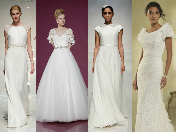 wedding dresses with sleeves and straps 2