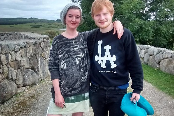 Ed Sheeran attends cousin's wedding in Ireland