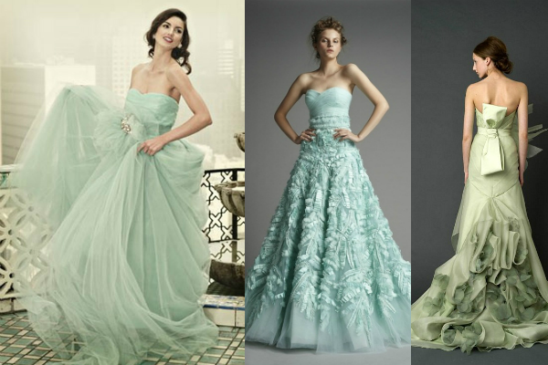 mint wedding dresses