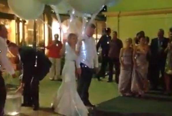 Irish couple do Ice Bucket Challenge at their wedding