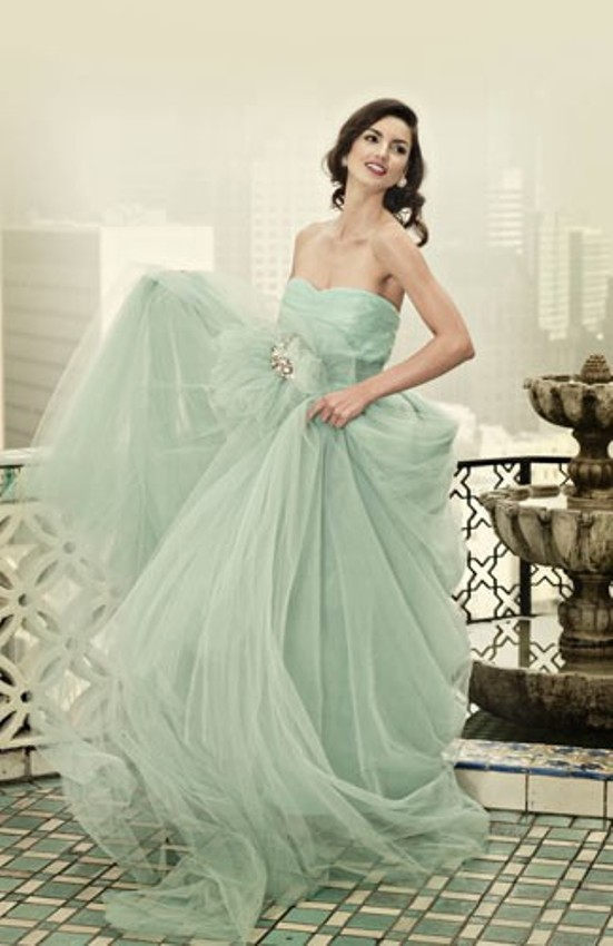 mint wedding dresses 4