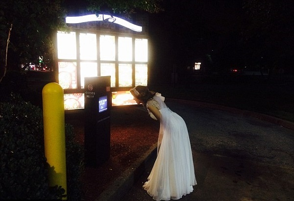 HAHA! Picture of drunk bride goes viral worldwide