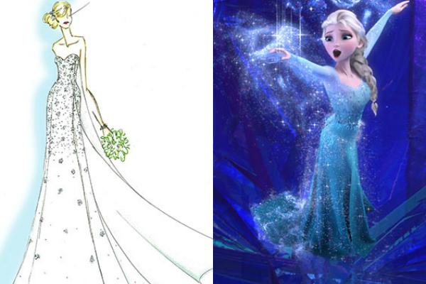 Would you wear a Disney Frozen wedding dress?