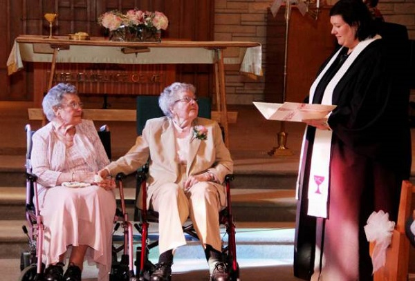 Lesbian couple marry after 72 years together