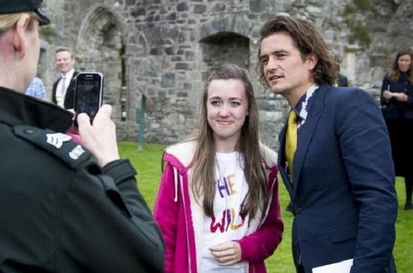 Orlando Bloom attends Northern Irish wedding