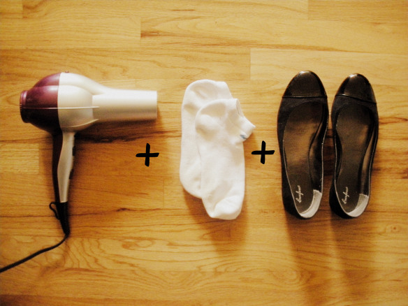 Money and Time Saving Wedding Hacks breaking in wedding shoes