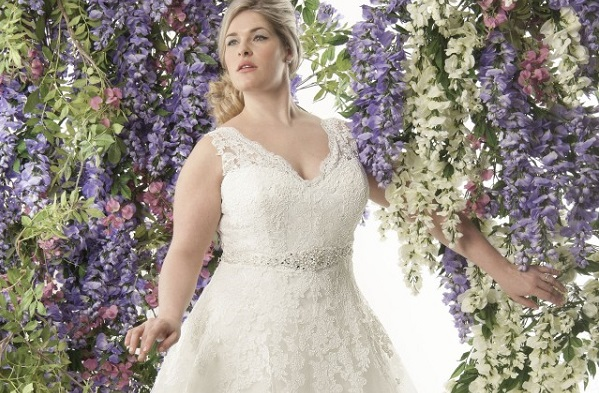 Plus size wedding dress style from Angelo Bridal