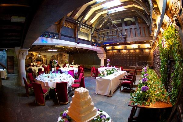 Belleek Castle Weddings reception room