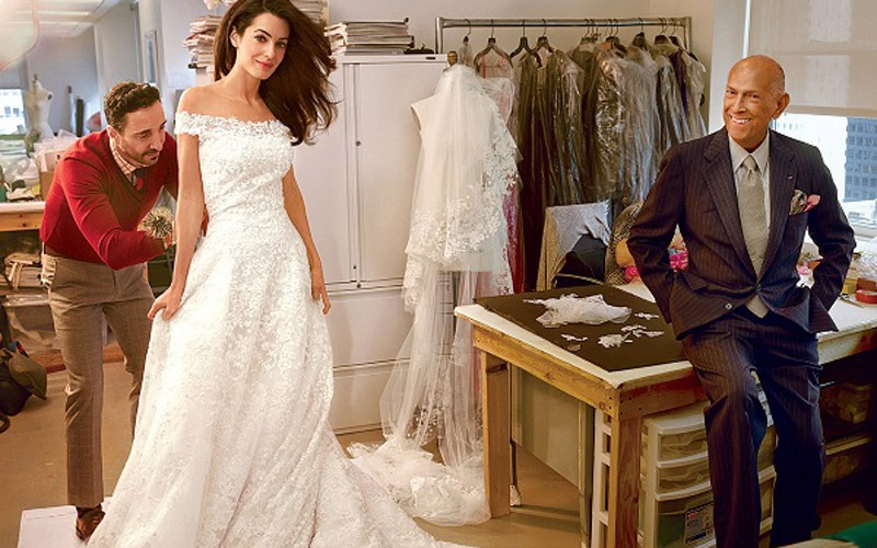 Celebrity Oscar De La Renta Wedding Dresses