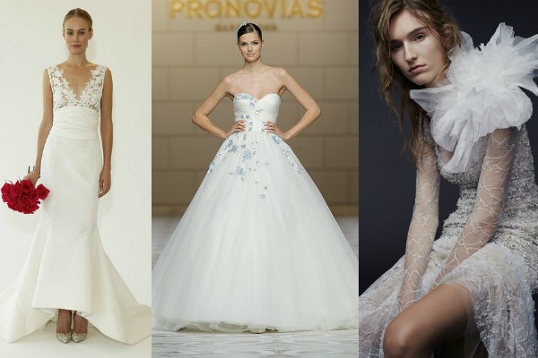 Our favourite wedding dresses from the 2015 bridal catwalk