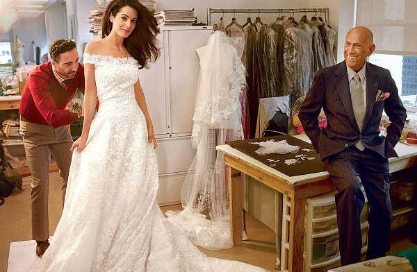 Top 12 Oscar De La Renta celebrity wedding dresses