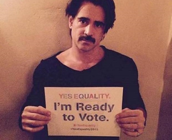 Colin Farrell writes open letter supporting gay marriage rights in Ireland