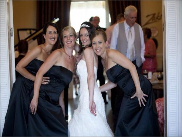 athenaeum house hotel bride and bridesmaids