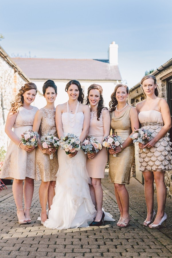 wedding traditions - mismatched bridesmaids