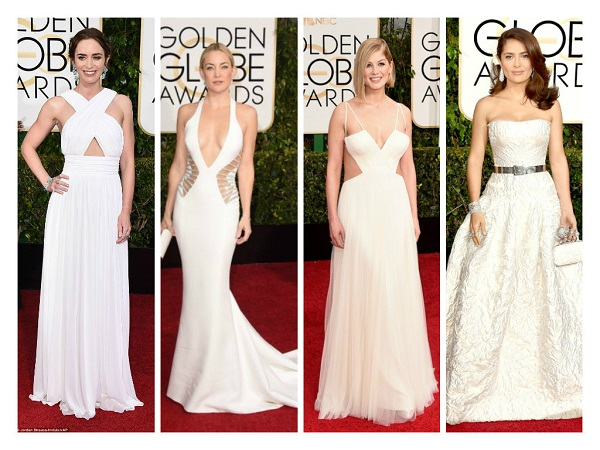 Bridal style at the 2015 Golden Globes