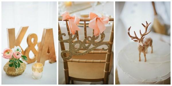 gold themed wedding ideas