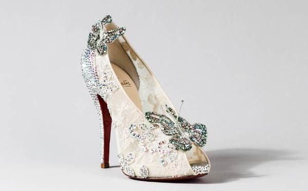 cinderella inspired disney princess wedding shoes