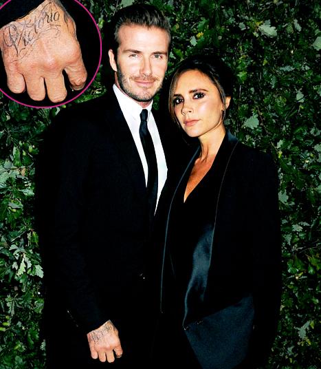 David & Victoria Beckham tattoo