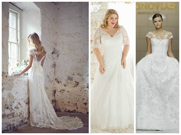 Lace wedding dresses for all figure types