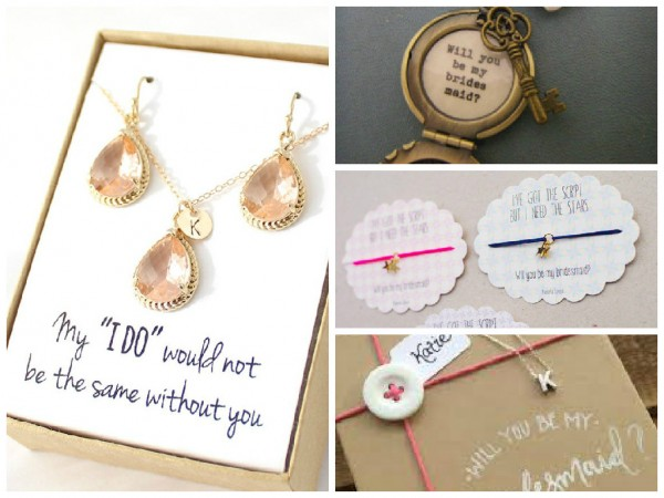 bridesmaid proposal jewellery