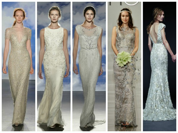 2015 Trend Alert: Metallic wedding dresses