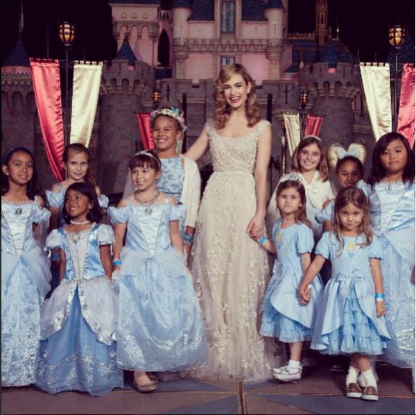 lily james, princess wedding dress