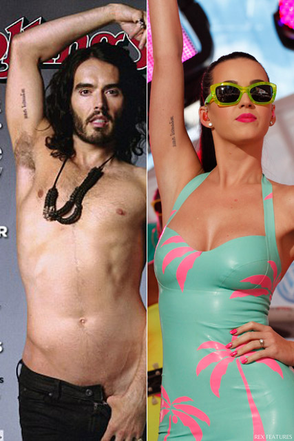 Katy Perry and Russel Brand tattoo
