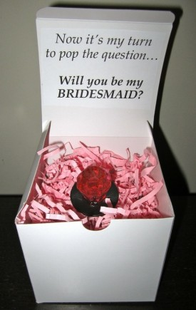 Will you be my bridesmaid ring pop