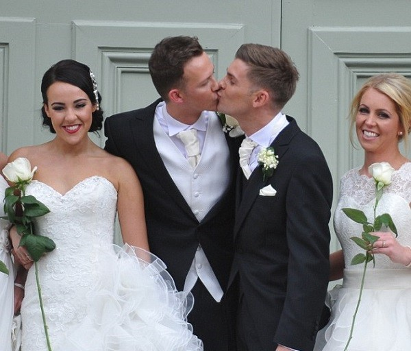 Carl Hyland and Kieron Richardson wedding