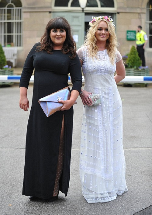 Jess Ellis, Kirsty Leigh Porter at Kieron Richardson's wedding