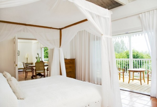 omo suite bedroom at Parrot Cay