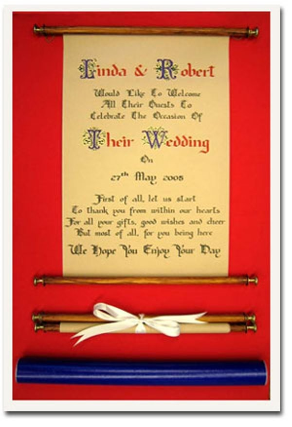 Game of Thrones Scroll Wedding Write and Smart
