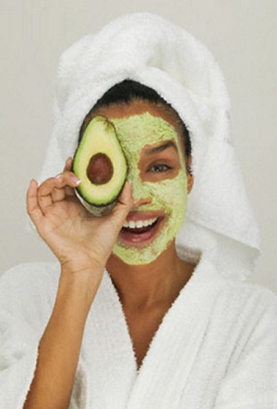 natural home beauty avocado facemask