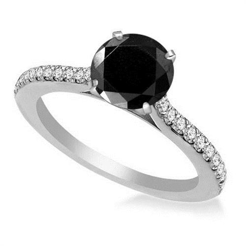 black engagement ring