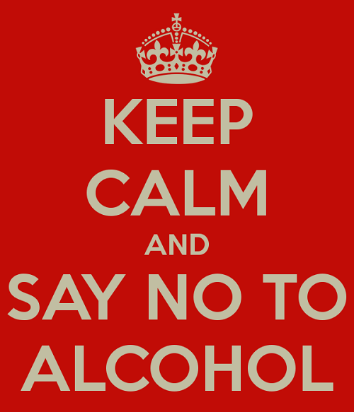 keep calm and say no to alcohol poster