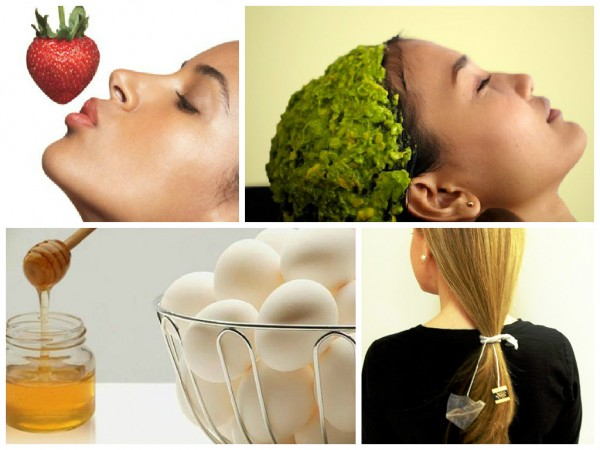 natural home-made beauty products collage