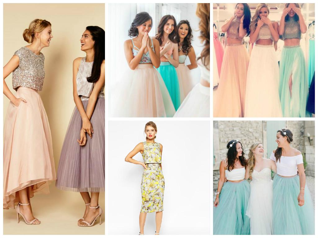 rop Top bridesmaid dress collage