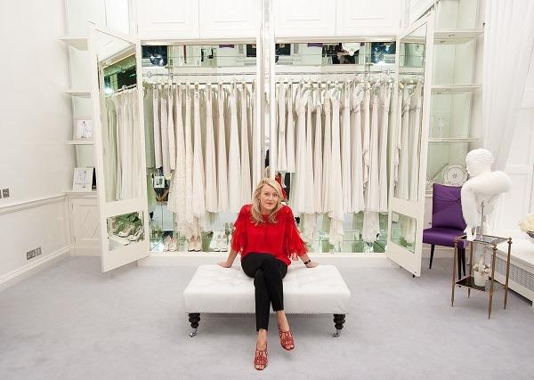 Louise Kennedy in shop