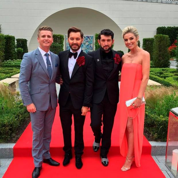 Newly weds Brian and Arthur pictured with Pippa O'Connor and Brian Ormond. Image: Instagram