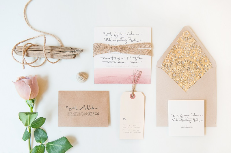 wedding stationery & flower seaside (3)