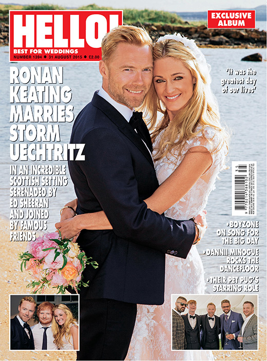 First photos of Ronan Keating and Storm's wedding revealed
