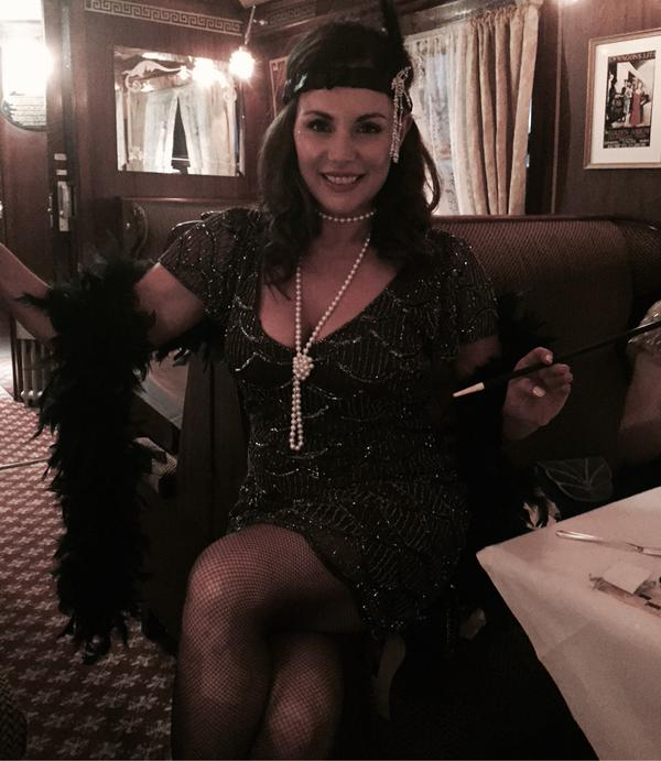 Lisa Cannon on her murder mystery themed hen weekend. Pic Twitter